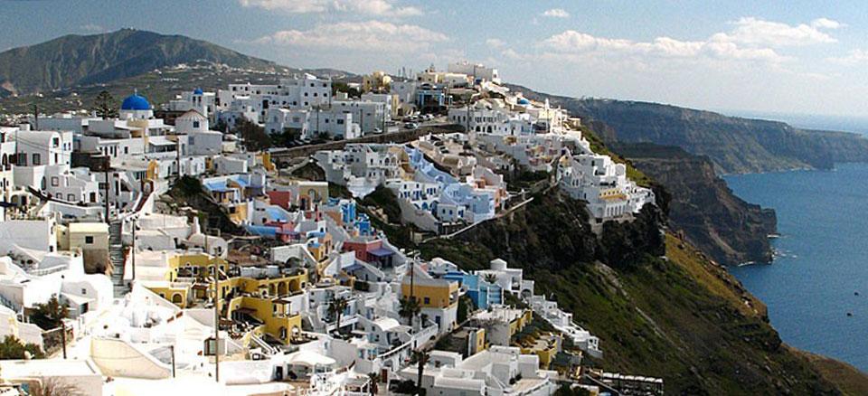 Santorini: architettura sostenibile e dell'arte dell'ingegno