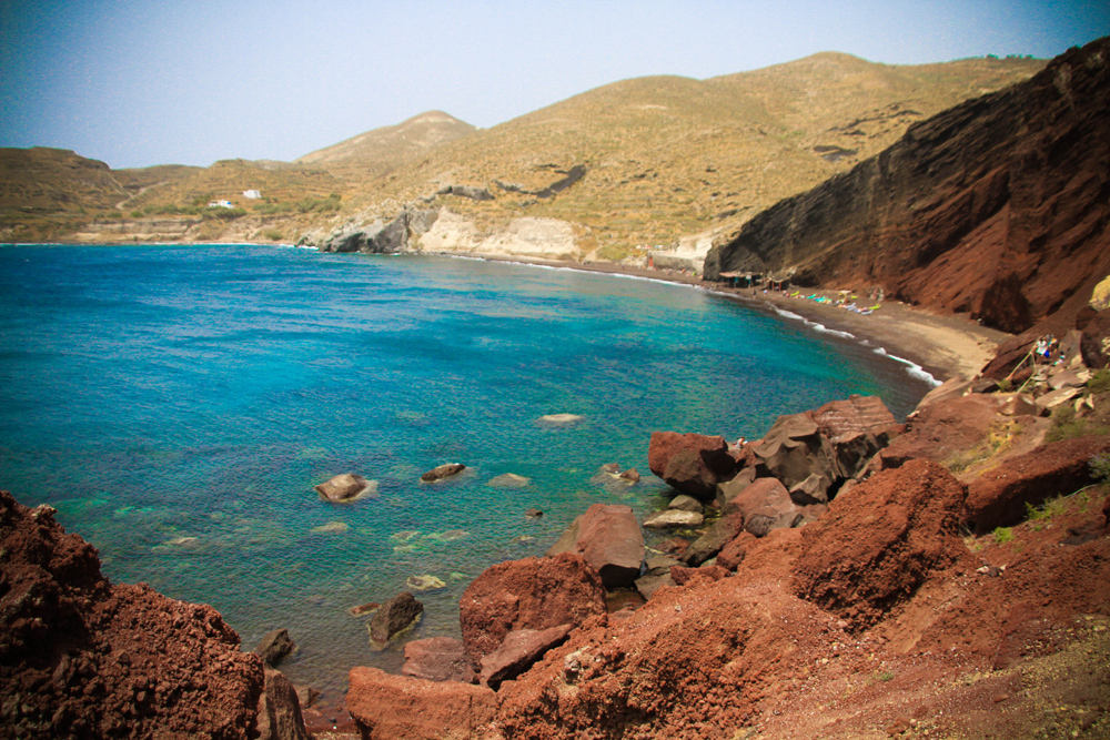 santorini-red beach