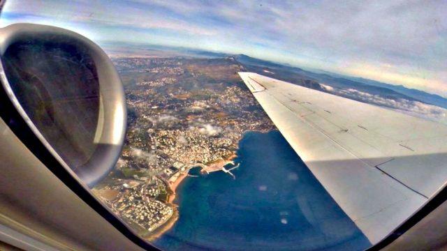 volo low cost Santorini vista dall'aereo
