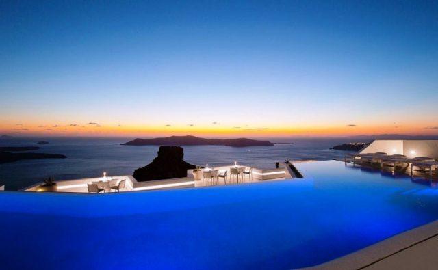 infinity pool santorini il grace hotel