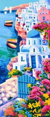 il cancello azzurro quadri santorini faccincani